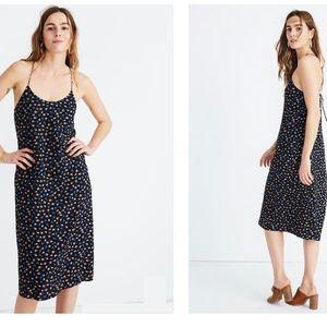 Madewell Tie-Back Slip Dress in Prairie Posies, 12